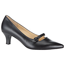 Buy Gabor Charity Pointed Low Heel Leather Shoes, Black Online at johnlewis.com