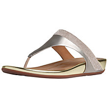 Buy Fitflop Banda Crystal Leather Toe Post Sandals Online at johnlewis.com