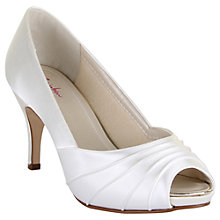 Buy Rainbow Club Sophie Peep Toe Court Shoes, Ivory Online at johnlewis.com