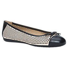 Buy Geox Lola Leather Pumps, Cream/Black Online at johnlewis.com