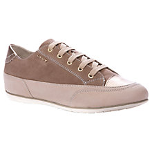 Buy Geox New Moena Leather Trainers, Taupe Online at johnlewis.com