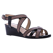 Buy Geox Lupe Wedge Sandals, Brown/Black Online at johnlewis.com