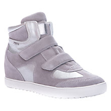 Buy Geox Amaranth Leather Wedged Trainers, Grey/Silver Online at johnlewis.com