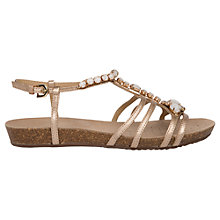 Buy Geox Vinca Embellished Sandals, Natural Leather Online at johnlewis.com