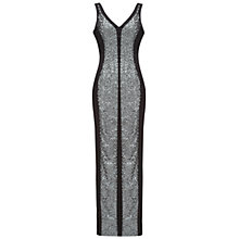 Buy Damsel in a dress Audley Dress, Silver/Black Online at johnlewis.com