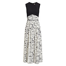 Buy Whistles Marble Print Dress, Black / White Online at johnlewis.com
