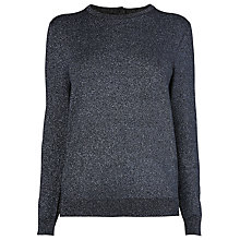 Buy L.K. Bennett Maddox Lurex Jumper, Black Online at johnlewis.com