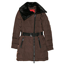 Buy Mango Faux Fur Quilted Coat Online at johnlewis.com
