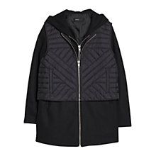 Buy Mango Detachable Gilet Trench, Black Online at johnlewis.com
