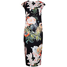 Buy Ted Baker Candiss Opulent Bloom Print Dress, Black Online at johnlewis.com