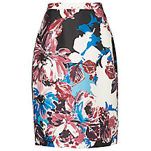 Buy L.K. Bennett Ella Floral Printed Pencil Skirt, Blue Floral Print Online at johnlewis.com