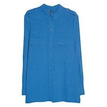 Buy Mango Epaulette Shirt, Medium Blue Online at johnlewis.com