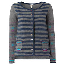 Buy White Stuff Caravan Cardigan, Blue/Grey Online at johnlewis.com