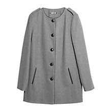 Buy Mango Buttoned Wool-Blend Coat Online at johnlewis.com