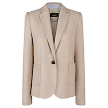 Buy Mango Herringbone Blazer, Medium Brown Online at johnlewis.com