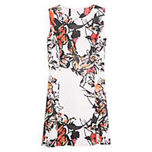 Buy Mango Floral Neoprene Dress, Bright Red Online at johnlewis.com