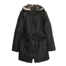 Buy Mango Faux Fur Quilted Parka Online at johnlewis.com