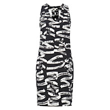Buy Whistles Twist Back Graffiti Dress, Black / White Online at johnlewis.com