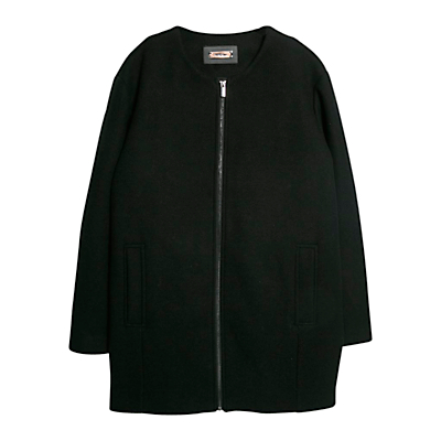 Mango Wool Blend Coat, Black