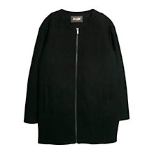 Buy Mango Wool Blend Coat, Black Online at johnlewis.com