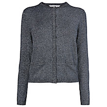 Buy L.K. Bennett Maddox Lurex Cardigan, Black Online at johnlewis.com
