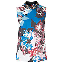 Buy L.K. Bennett Elle Floral Silk Top, Multi Online at johnlewis.com