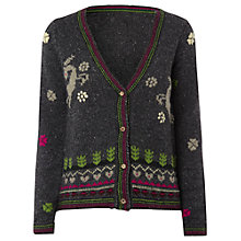 Buy White Stuff Gypsy Deer Cardigan, Charcoal Online at johnlewis.com