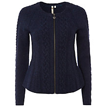 Buy White Stuff Peacock Zip Cardigan, Irish Blue Online at johnlewis.com