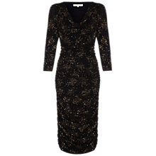 Buy Damsel in a dress Annery Dress, Black/Gold Online at johnlewis.com