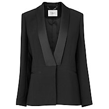 Buy L.K. Bennett Maya Contrast Jacket, Black Online at johnlewis.com