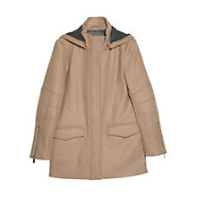 Buy Mango Hooded Coat, Medium Brown Online at johnlewis.com