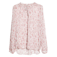 Buy Mango Floral Chiffon Blouse, Natural White Online at johnlewis.com