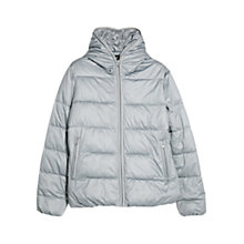 Buy Mango Foldable Water Repellant Quilted Coat, Medium Grey Online at johnlewis.com
