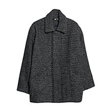 Buy Mango Wool Blend Cocoon Coat, Navy Online at johnlewis.com