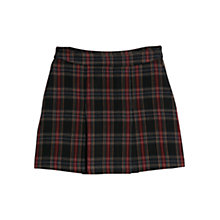Buy Mango Pleat Detail Check Skirt, Navy Online at johnlewis.com