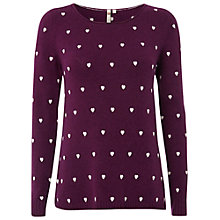 Buy White Stuff Hairy Heart Jumper, Ornamental Online at johnlewis.com