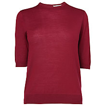 Buy L.K. Bennett Maleo Bow Wool Jumper, Mulberry Online at johnlewis.com