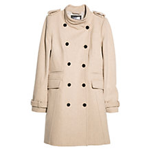 Buy Mango Double-Breasted Coat, Natural White Online at johnlewis.com
