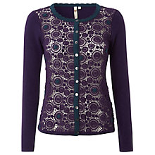 Buy White Stuff Melanitta Cardigan, Purple Fable Online at johnlewis.com