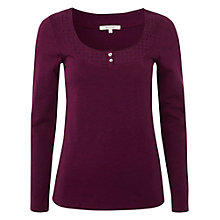 Buy White Stuff Long Sleeve Daisy Chain T-Shirt, Ornamental Online at johnlewis.com