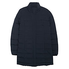 Buy Mango Quilted Coat, Navy Online at johnlewis.com