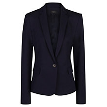 Buy Mango Essential Cotton Blazer, Navy Online at johnlewis.com
