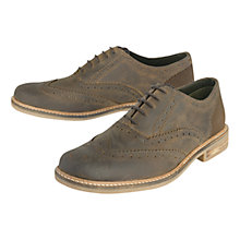 Buy Barbour Redcar Leather Brogues, Brown Online at johnlewis.com