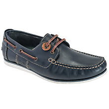 Buy Barbour Flinders Boat Shoes, Blue Online at johnlewis.com