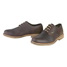 Buy Barbour Cottam Derby Shoes, Brown Online at johnlewis.com