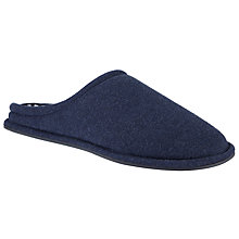 Buy Kin by John Lewis Stripe Lined Mule Slippers, Denim Online at johnlewis.com