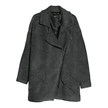 Buy Mango Tweed Oversized Coat, Dark Grey Online at johnlewis.com