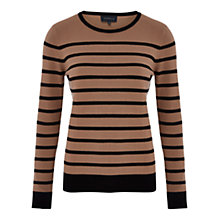 Buy Viyella Striped Jumper, Black Online at johnlewis.com