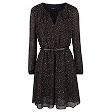 Buy Mango Belt Printed Dress, Dark Grey Online at johnlewis.com