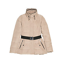 Buy Mango Belted Feather Down Coat, Beige Online at johnlewis.com